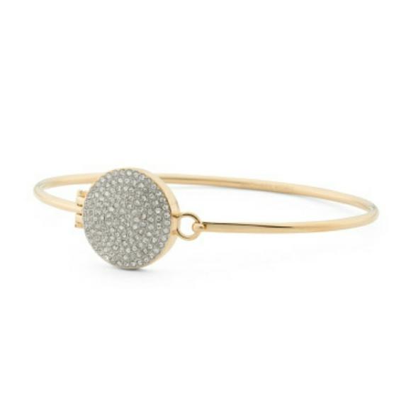 ea6dc64c4a936 New Michael Kors Crystal Pave Disc Bracelet NWT